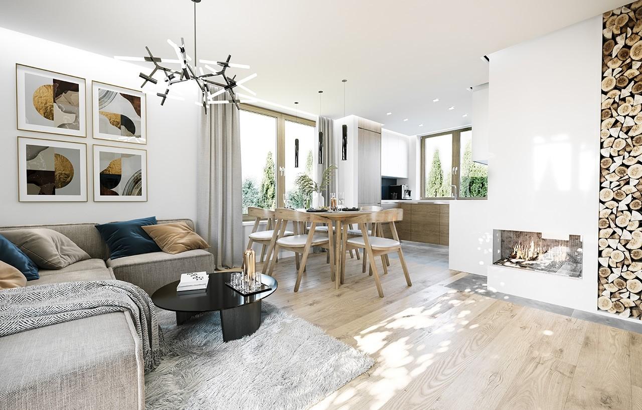 Projekt domu Ania - wizualizacja wnętrza