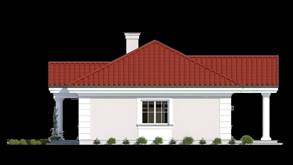 Dom na dębowej wariant B - elewacja boczna