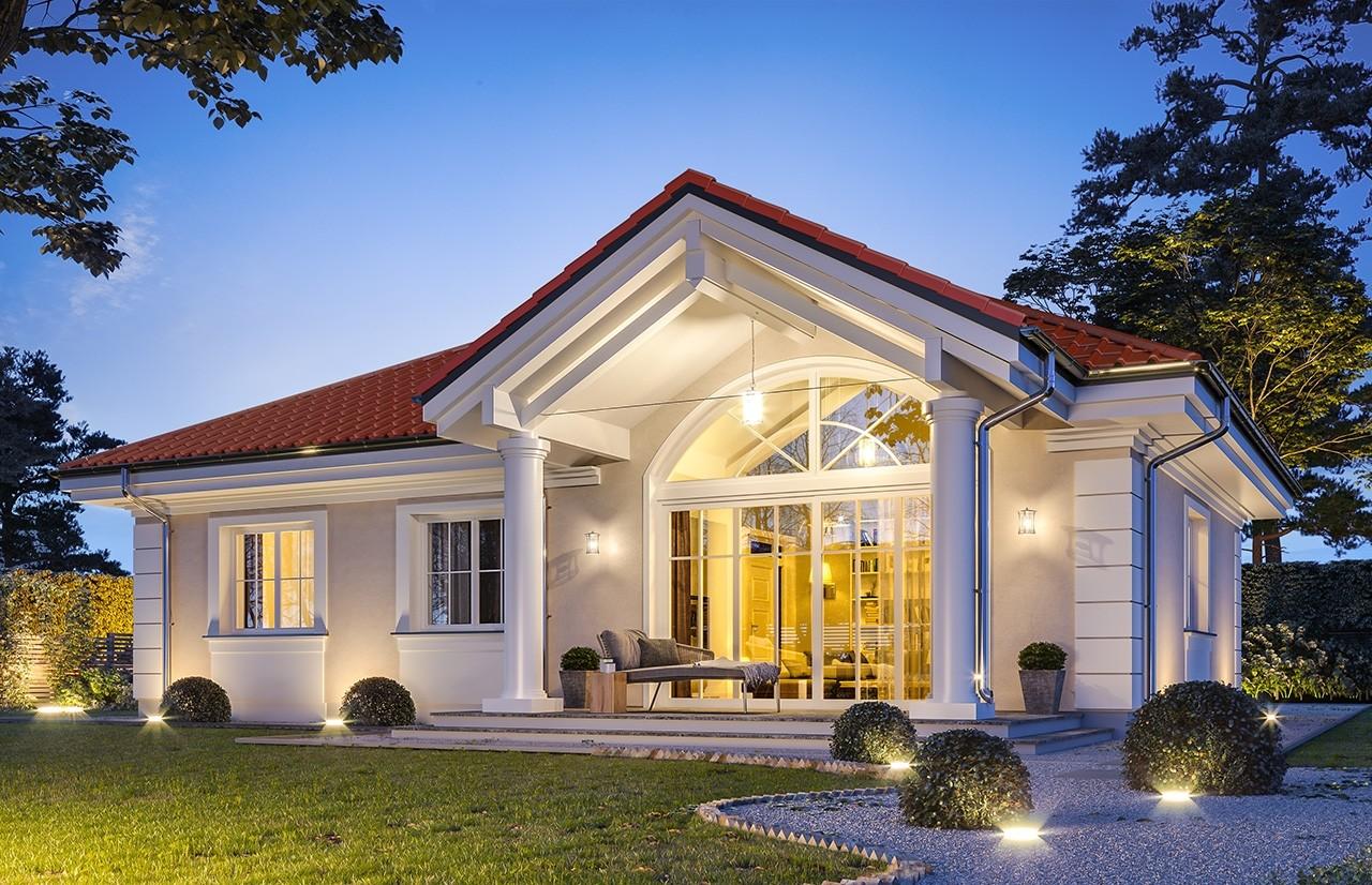 Projekt domu Dom na dębowej - wizualizacja tylna odbicie lustrzane