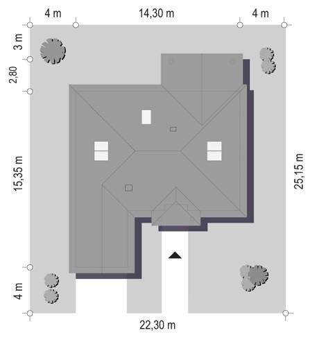 Dom na parkowej 3 - sytuacja