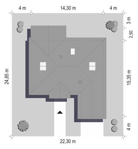 Dom na parkowej 4 - sytuacja odbicie lustrzane