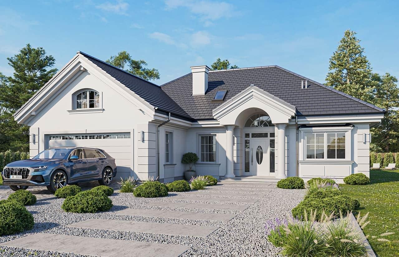 Projekt domu Dom na parkowej 6 wariant B wizualizacja frontowa