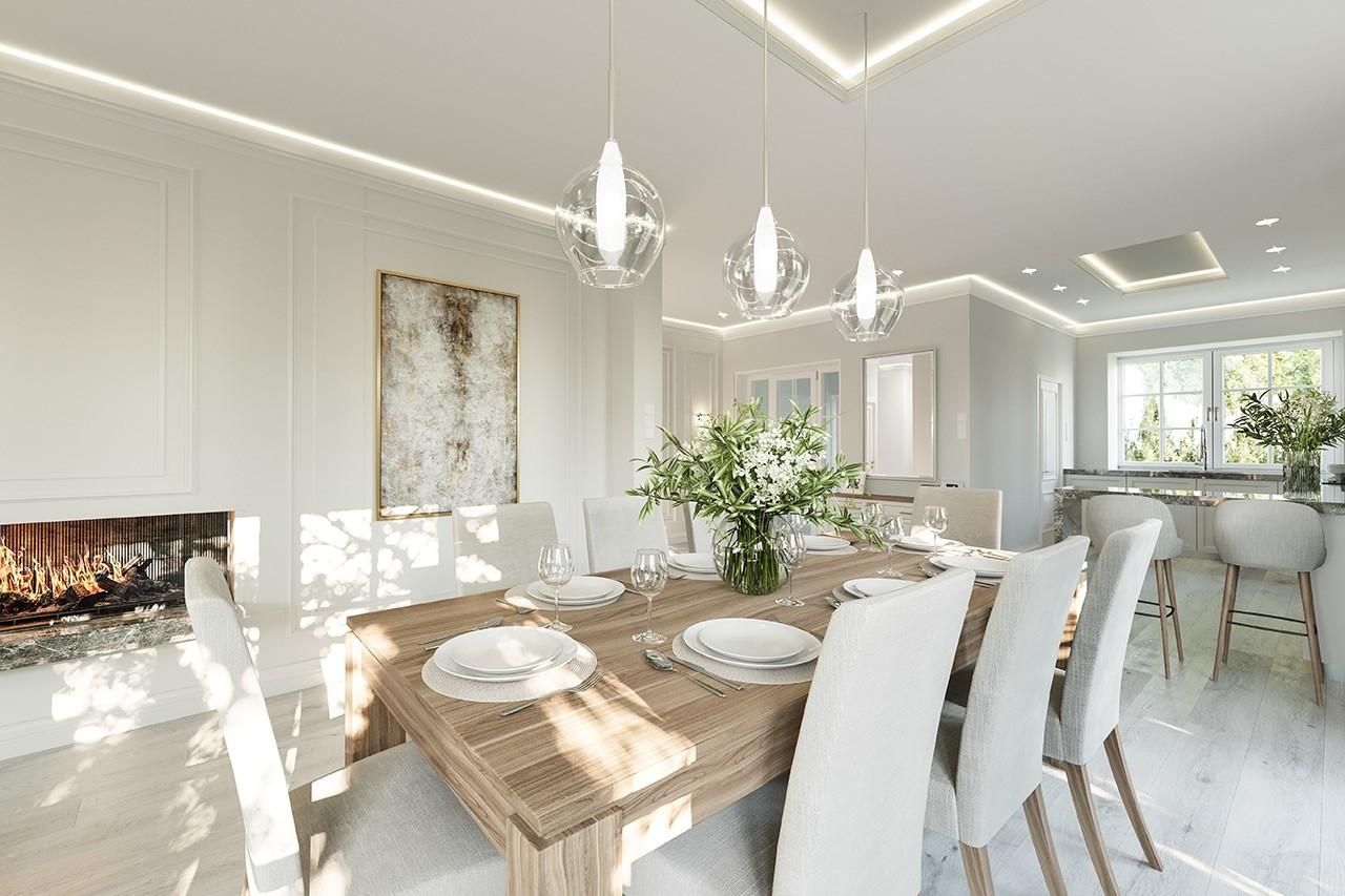 Projekt domu Dom na parkowej 7 A - wizualizacja wnętrza odbicie lustrzane