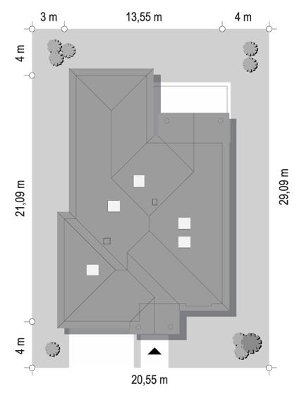 Dom na parkowej 7 C - sytuacja