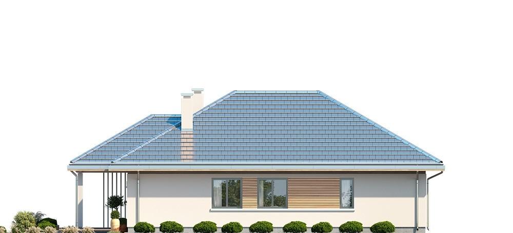 Projekt domu Dom na południowej - elewacja