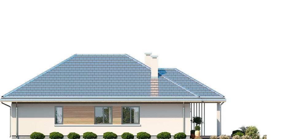 Projekt domu Dom na południowej - elewacja odbicie lustrzane