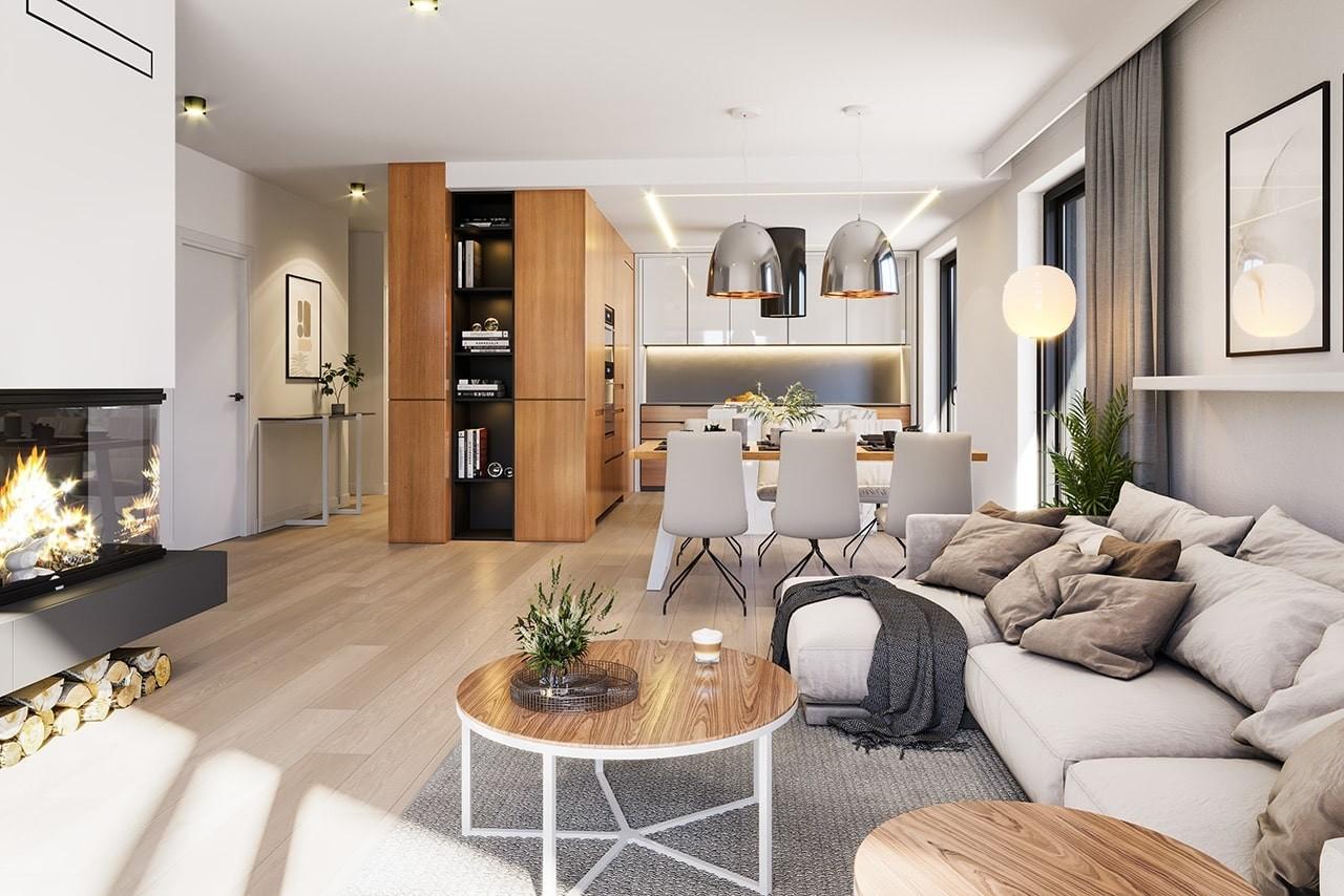 Projekt domu Dom na południowej 2 - wizualizacja wnętrza odbicie lustrzane