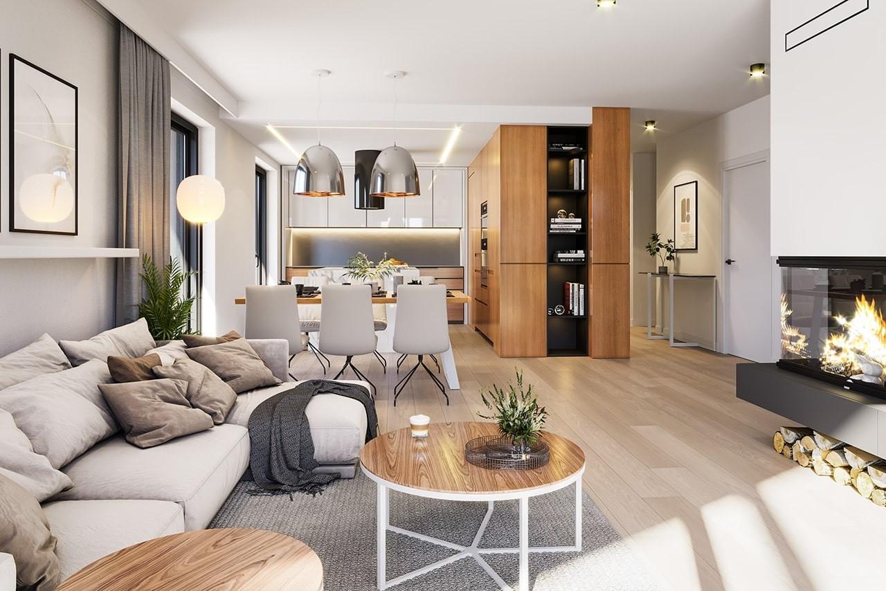 Projekt domu Dom na południowej - wizualizacja wnętrza