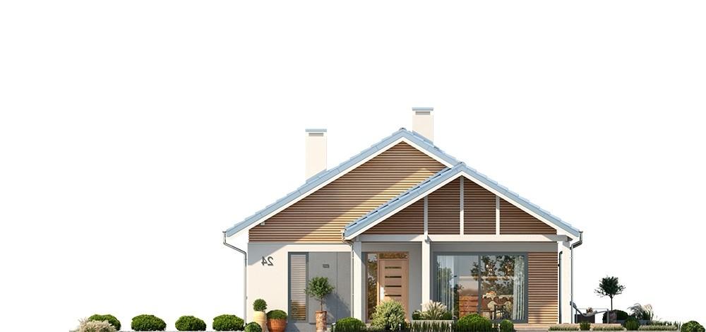 Projekt domu Dom na południowej 2 - elewacja odbicie lustrzane