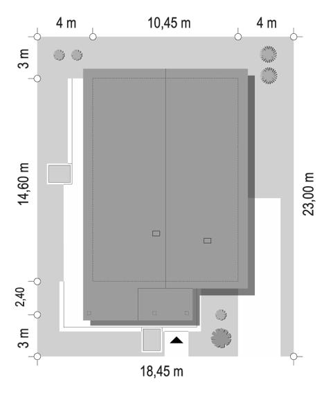 Projekt domu Dom na południowej 2 - sytuacja