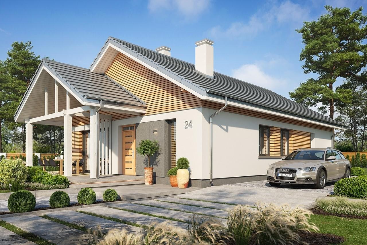 Projekt domu Dom na południowej 2 wizualizacja frontu 2