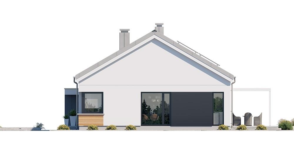 Projekt domu Dom na praktycznej - elewacja