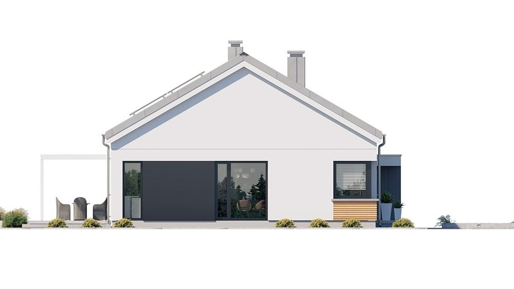 Projekt domu Dom na praktycznej - elewacja odbicie lustrzane