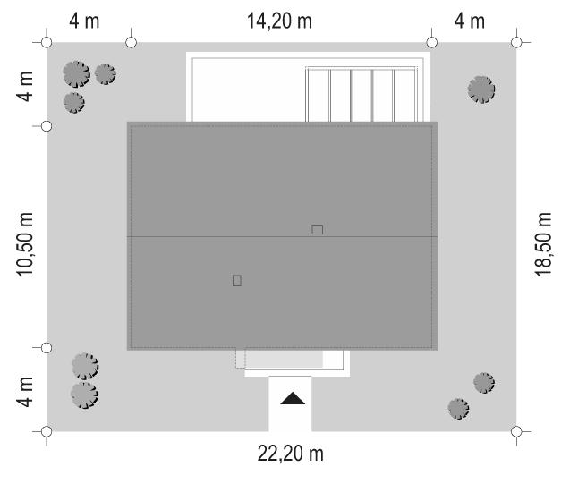 Projekt domu Dom na praktycznej - sytuacja