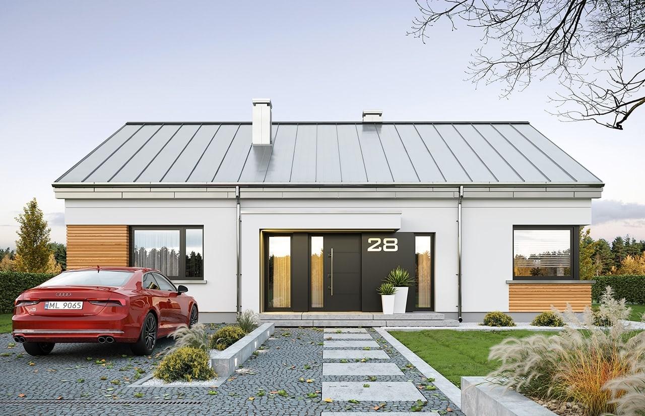 Projekt domu Dom na praktycznej - wizualizacja frontu