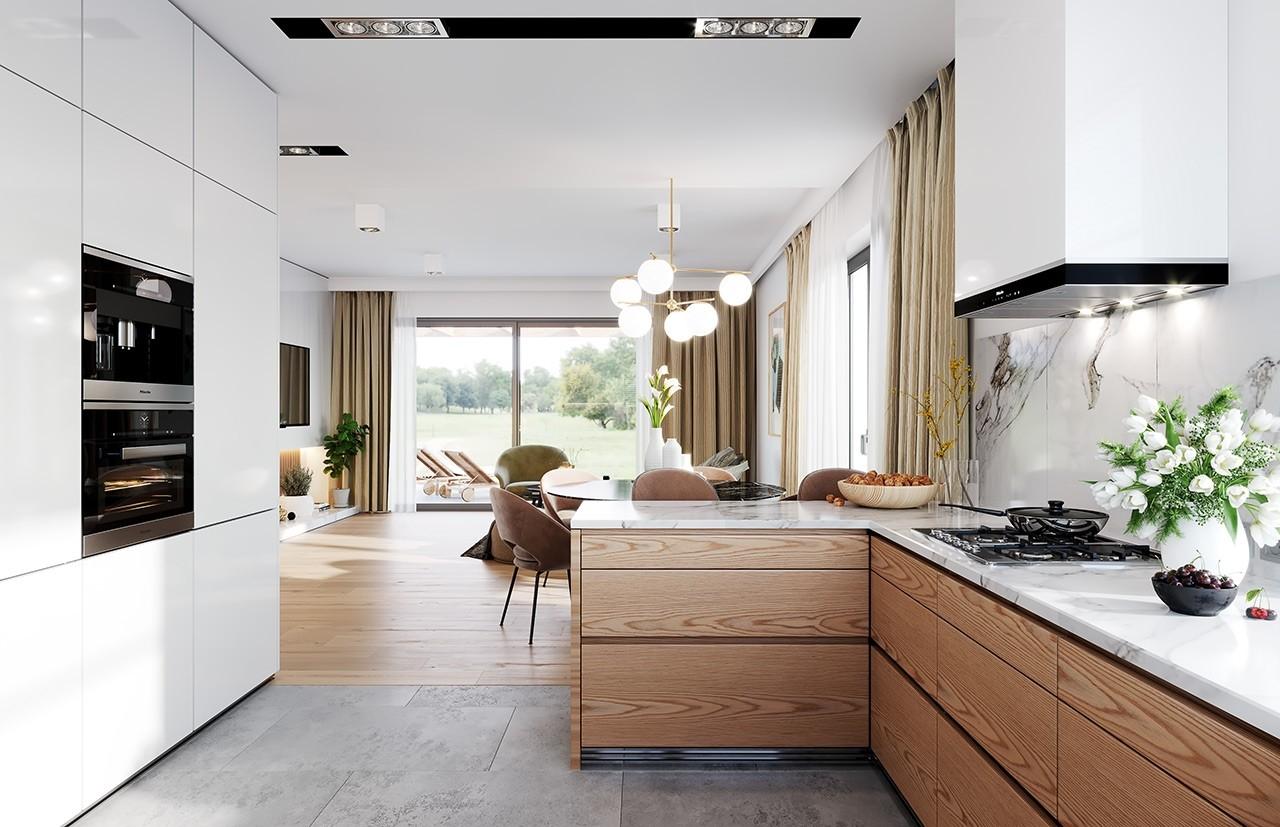 Projekt domu Dom na praktycznej 3 B - wizualizacja wnętrza