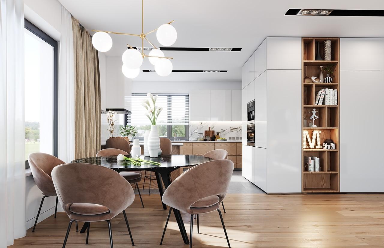 Projekt domu Dom na praktycznej 2 - wizualizacja wnętrza
