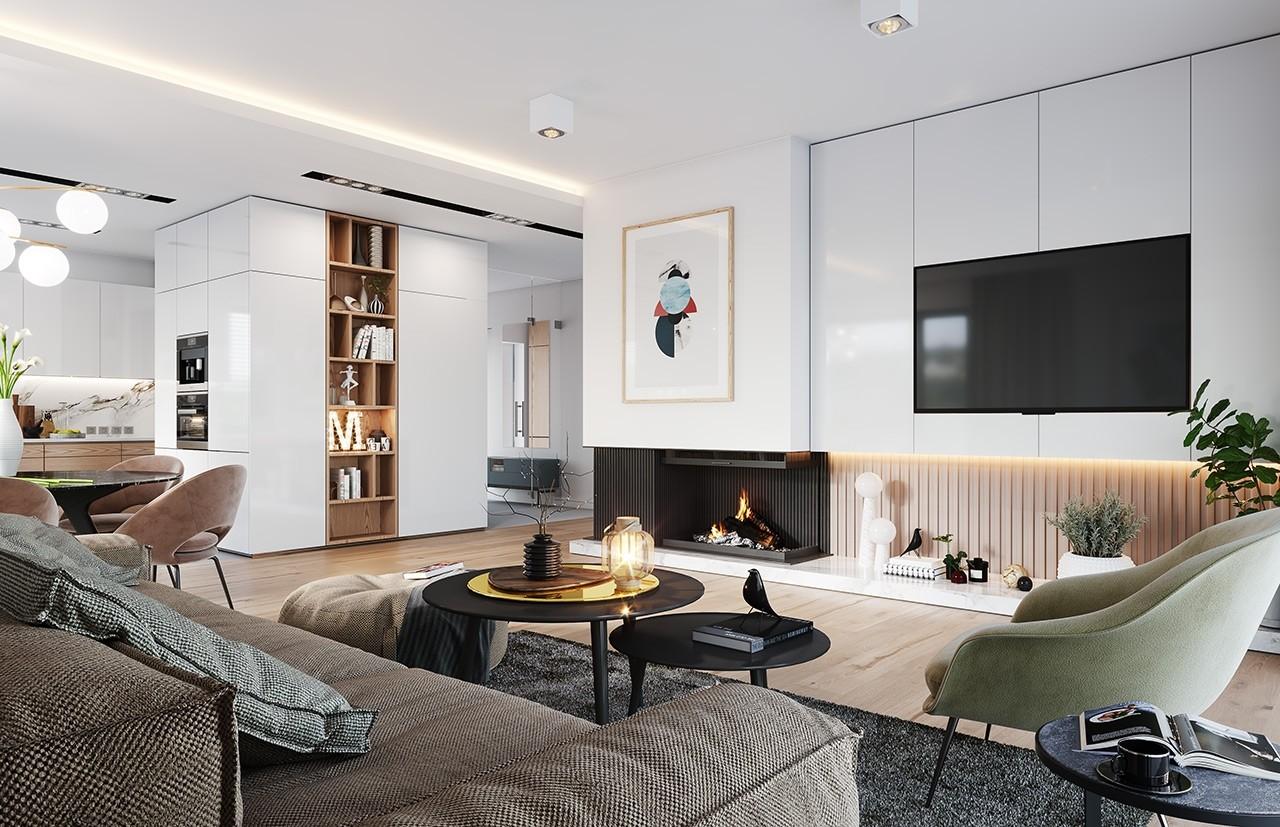Projekt domu Dom na praktycznej - wizualizacja wnętrza