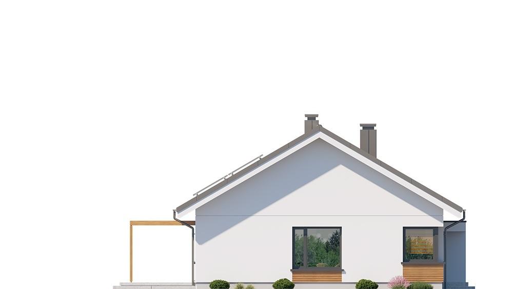 Projekt domu Dom na praktycznej 2 - elewacja odbicie lustrzane