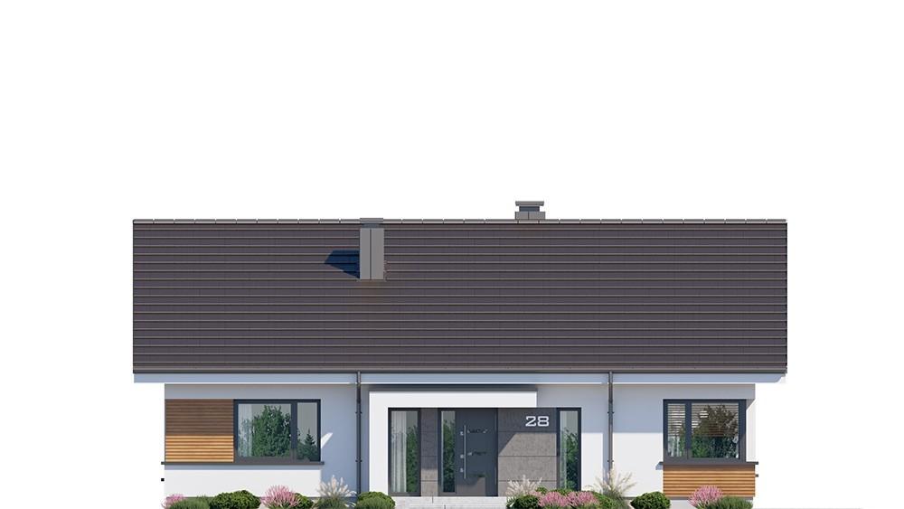 Projekt domu Dom na praktycznej 2 - elewacja