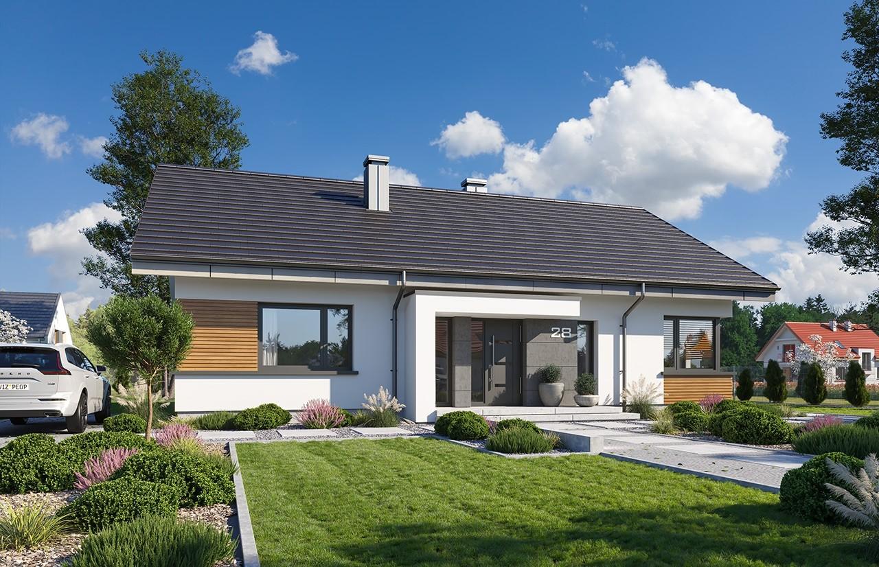 Projekt domu Dom na praktycznej 2 - wizualizacja frontu