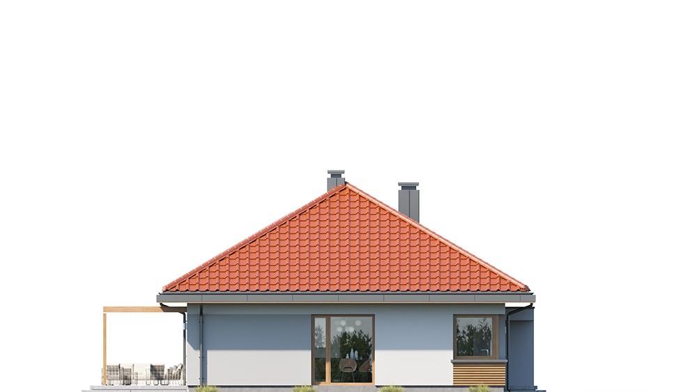 Projekt domu Dom na praktycznej 3 - elewacja odbicie lustrzane