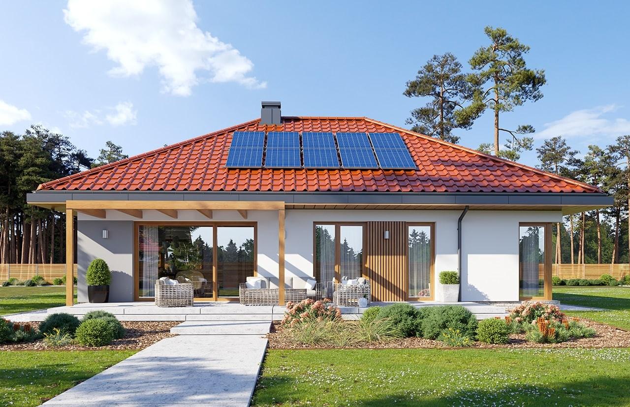 Projekt domu Dom na praktycznej 3 - wizualizacja ogrodowa