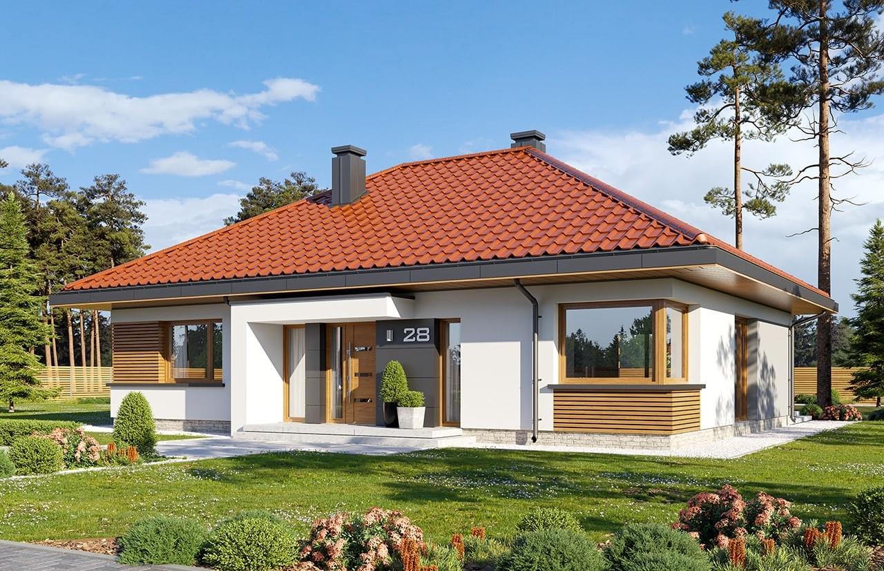 Projekt domu Dom na praktycznej 3 - wizualizacja frontu