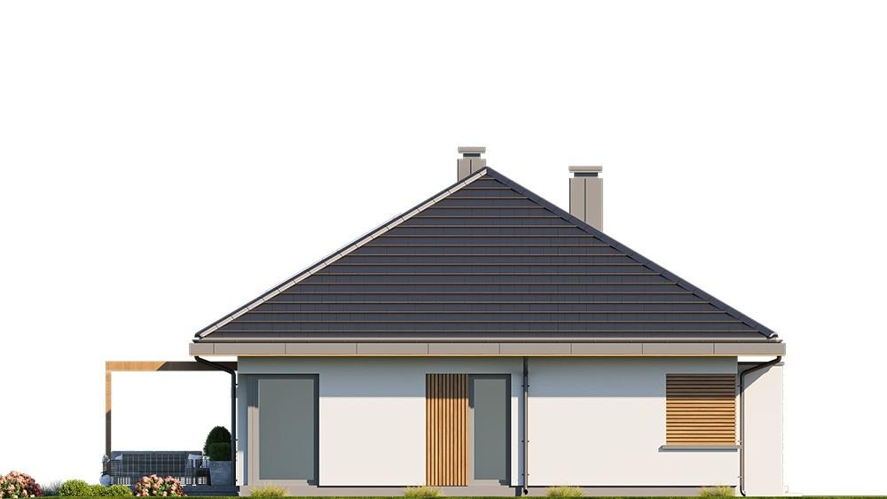 Projekt domu Dom na praktycznej 3 B - elewacja