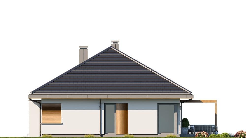 Projekt domu Dom na praktycznej 3 B - elewacja odbicie lustrzane