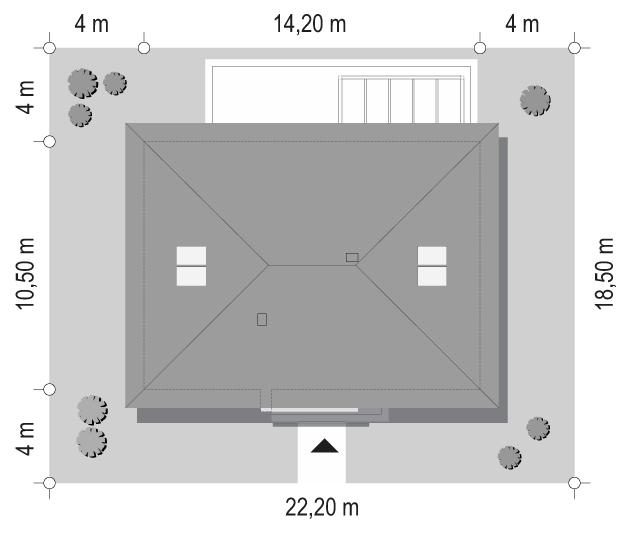 Projekt domu Dom na praktycznej 3 B - sytuacja