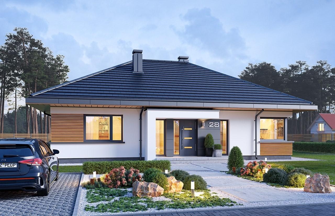 Projekt domu Dom na praktycznej 3 B - wizualizacja frontu