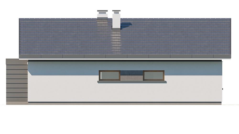 Projekt domu Dom na przytulnej - elewacja odbicie lustrzane
