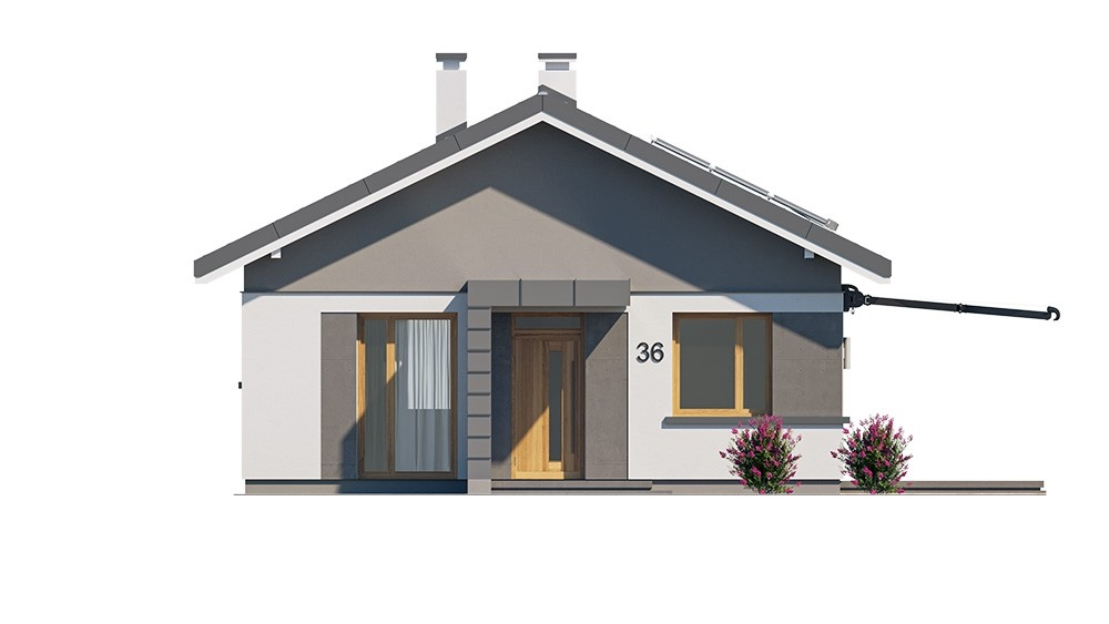 Projekt domu Dom na przytulnej - elewacja