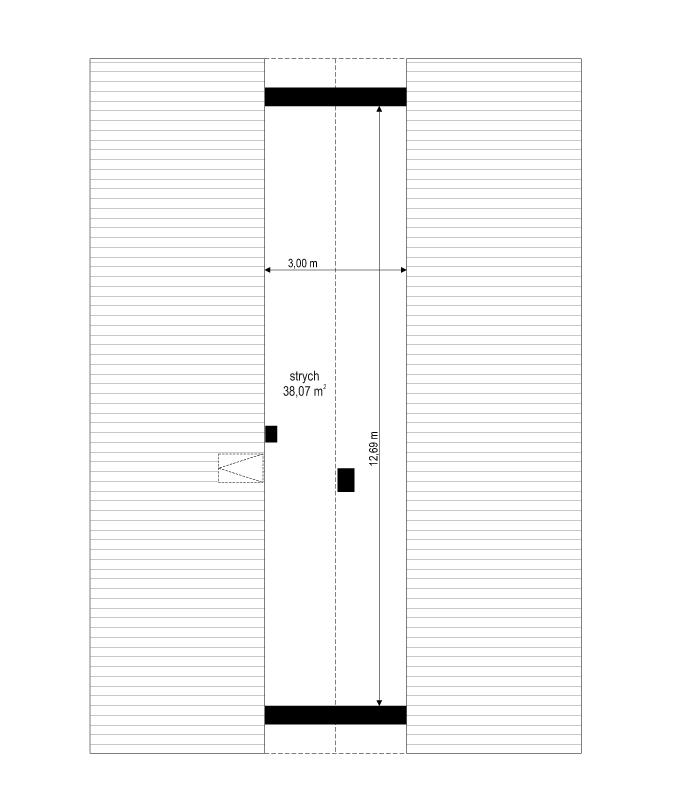 Projekt domu Dom na przytulnej - rzut strychu