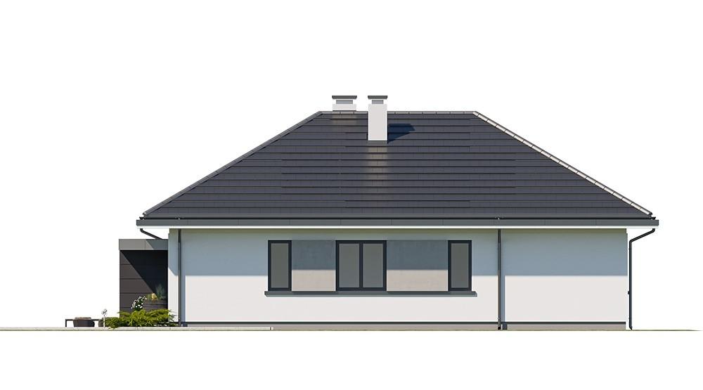 Projekt domu Dom na przytulnej 2 - elewacja odbicie lustrzane