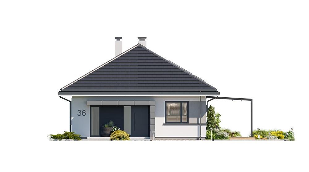 Projekt domu Dom na przytulnej 2 - elewacja