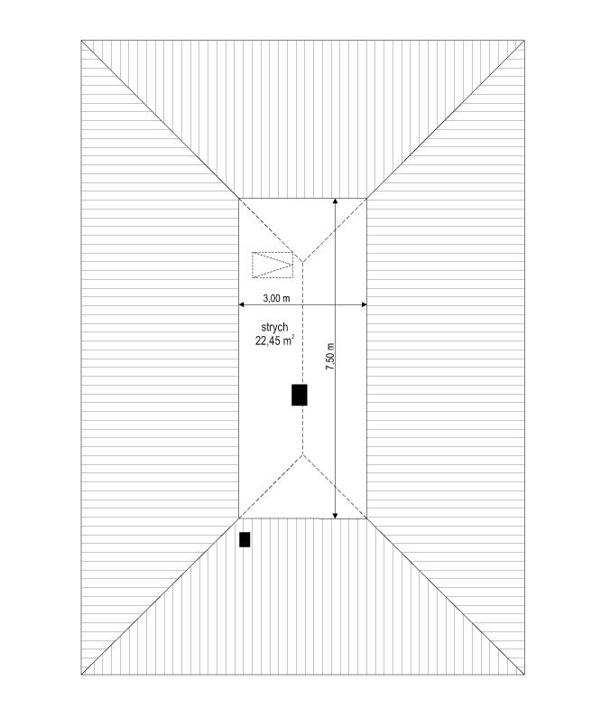 Projekt domu Dom na przytulnej 2 - rzut strychu
