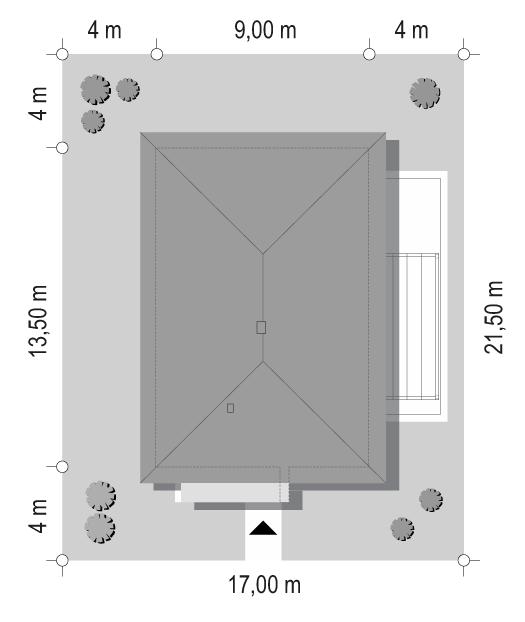 Projekt domu Dom na przytulnej 2 - sytuacja