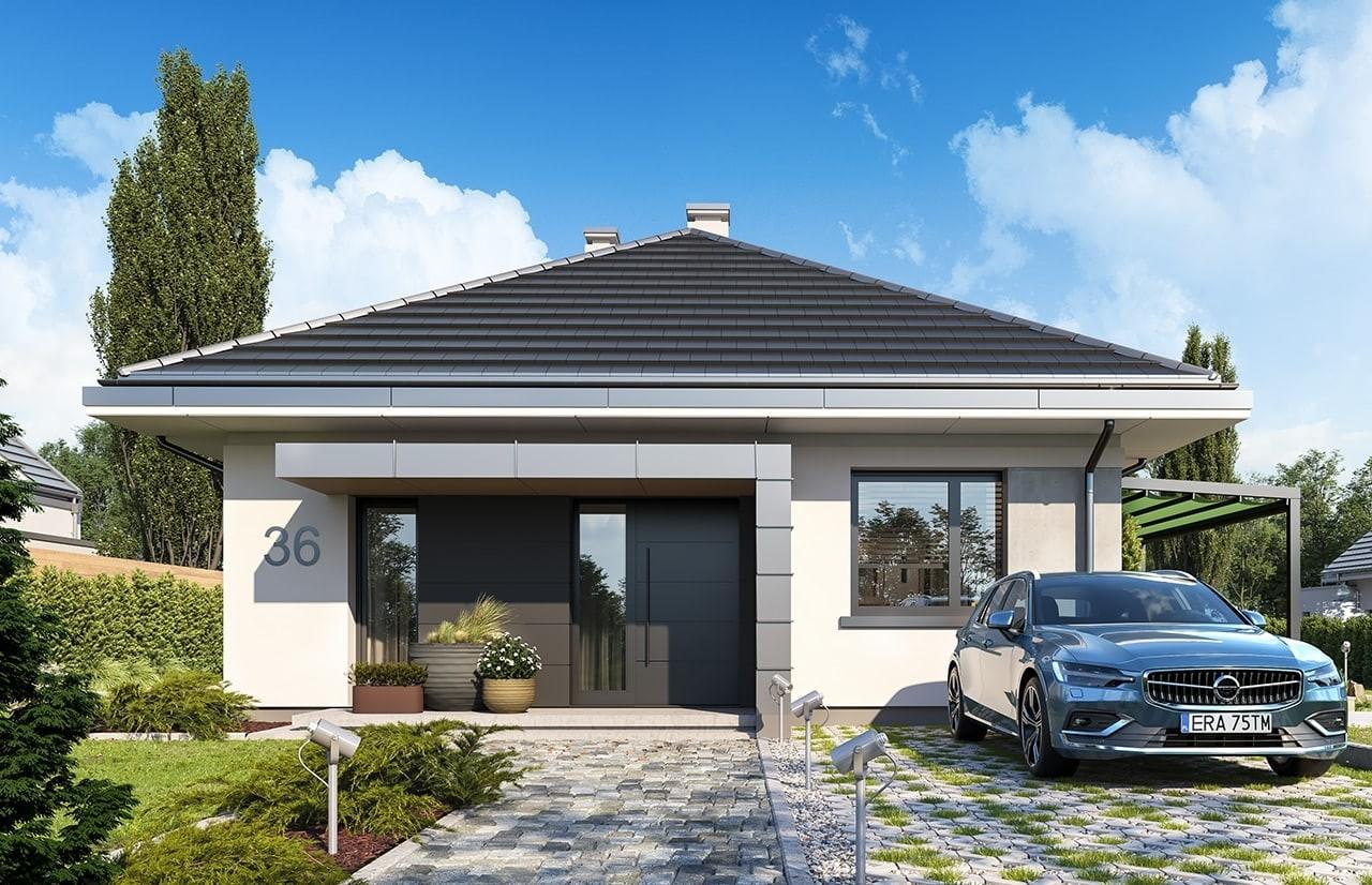 Projekt domu Dom na przytulnej 2 - wizualizacja frontu