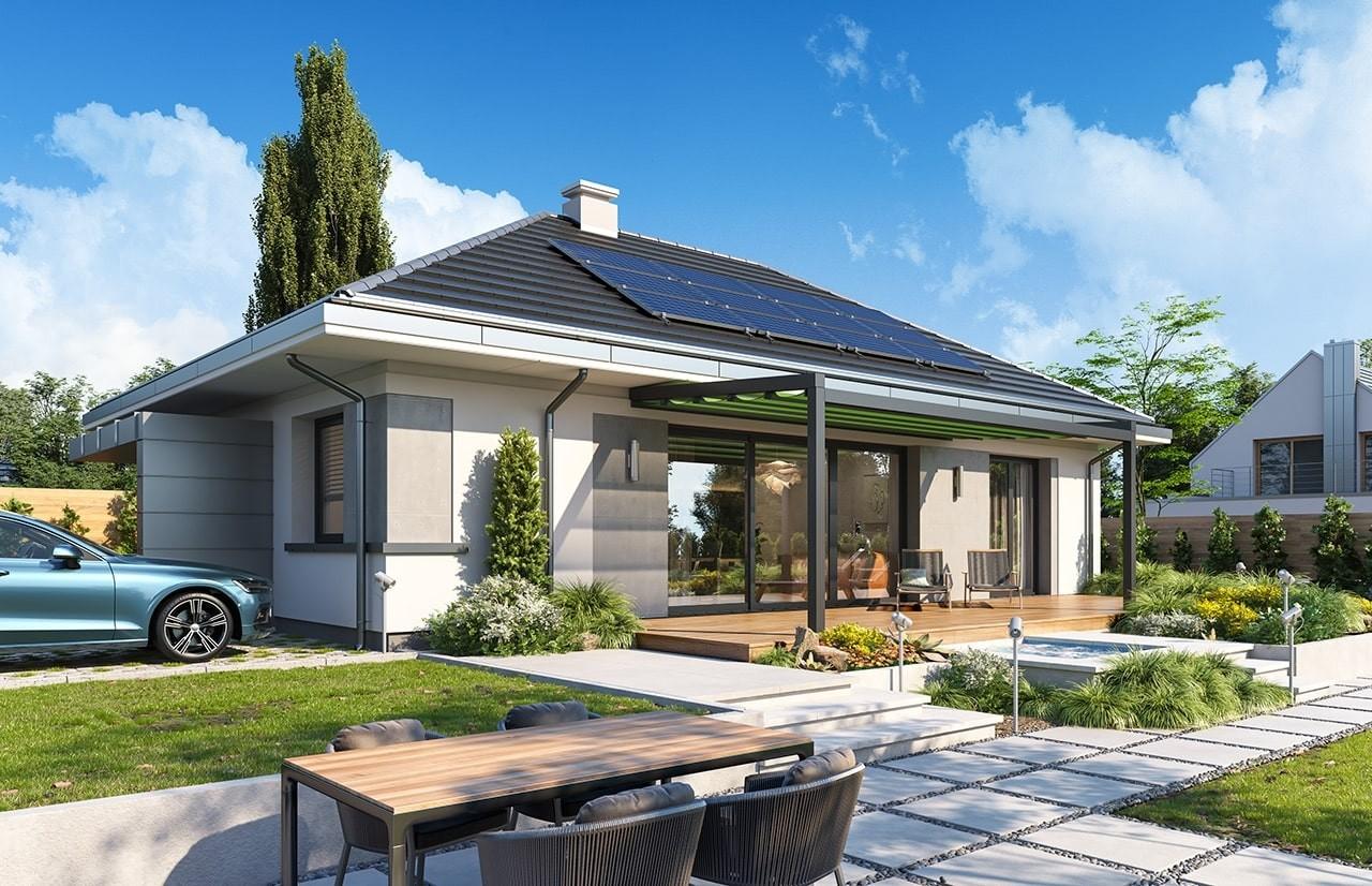 Projekt domu Dom na przytulnej 2 - wizualizacja ogrodowa