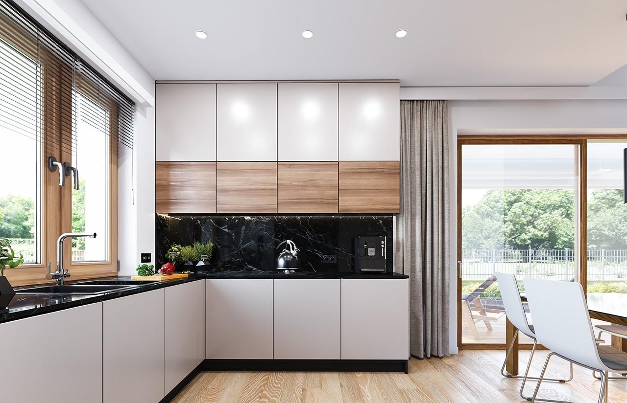 Projekt domu Dom na przytulnej 2 - wizualizacja wnętrza odbicie lustrzane