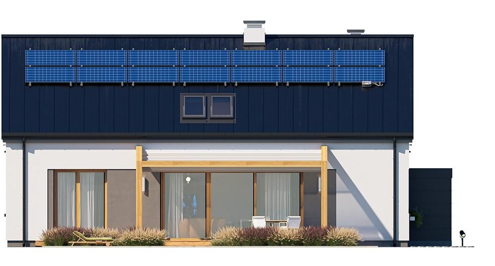 Projekt domu Dom na przytulnej 3 - elewacja odbicie lustrzane