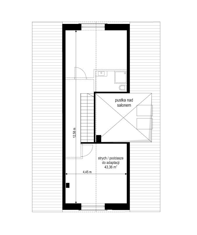 Projekt domu Dom na przytulnej 3 - rzut poddasza