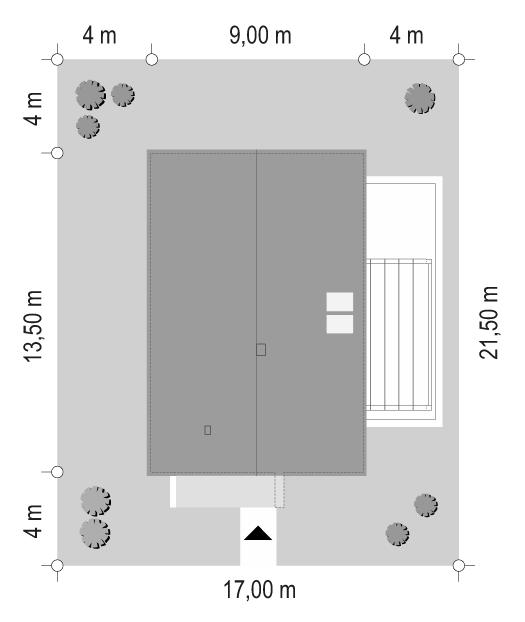 Projekt domu Dom na przytulnej 3 - sytuacja