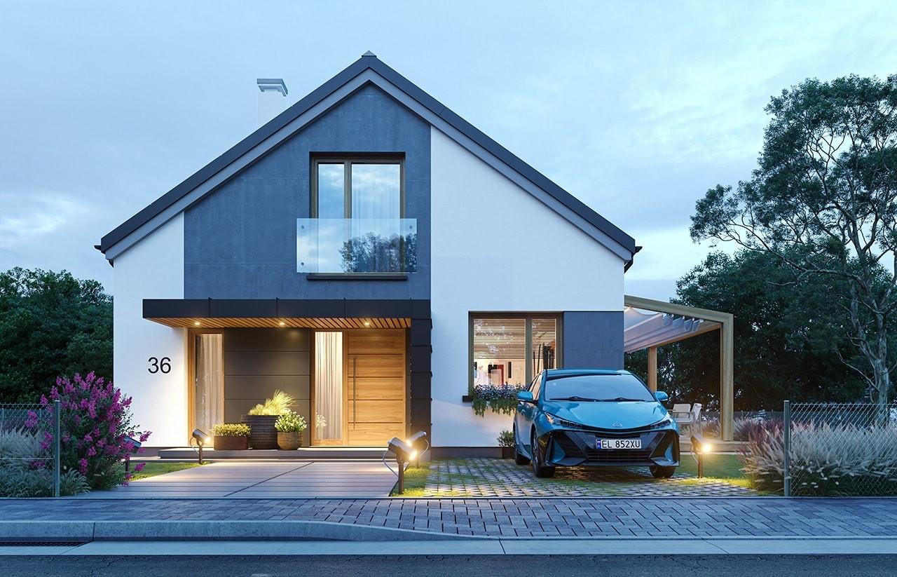 Projekt domu Dom na przytulnej 3 - wizualizacja frontu