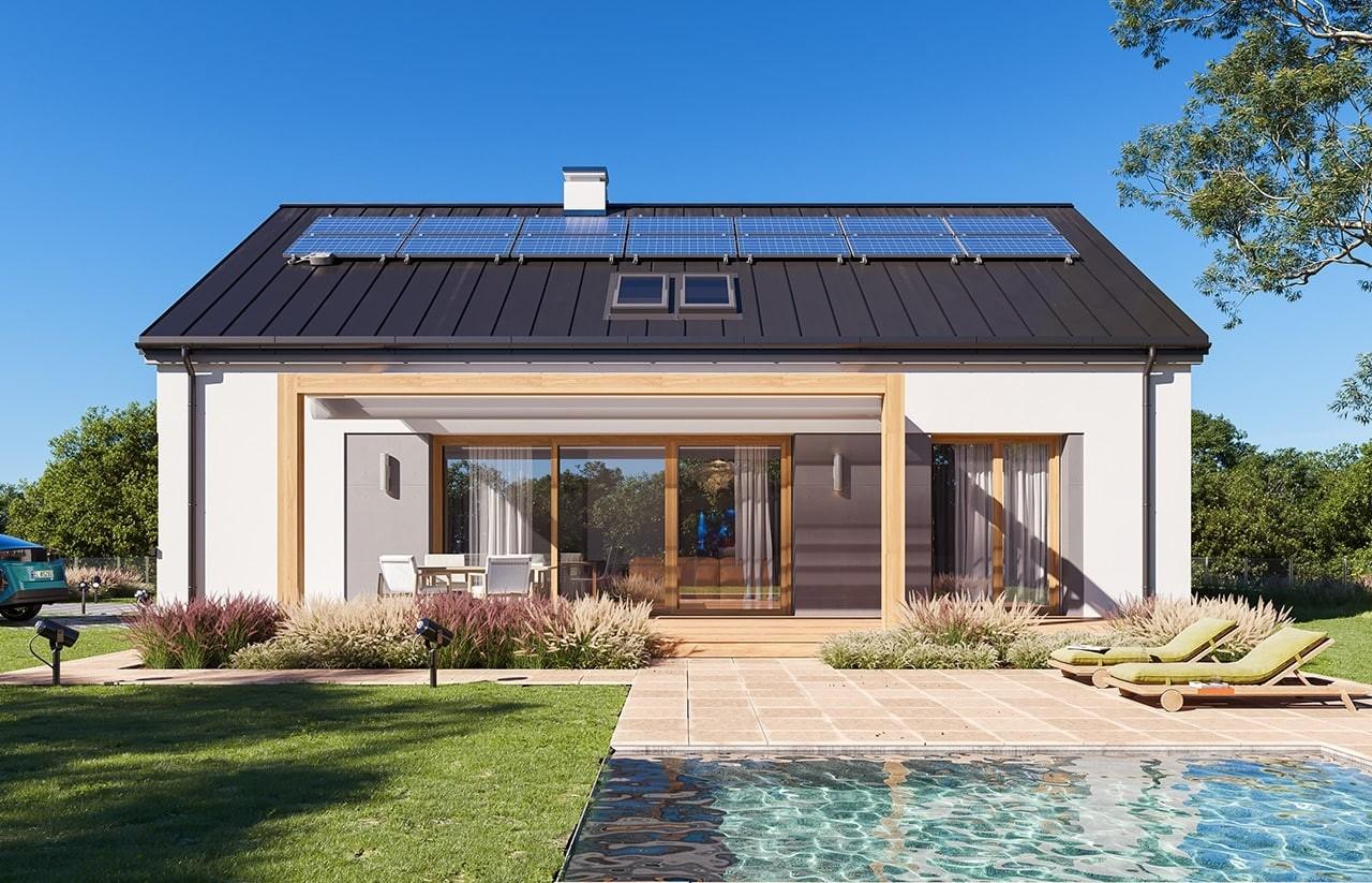 Projekt domu Dom na przytulnej 3 - wizualizacja ogrodowa