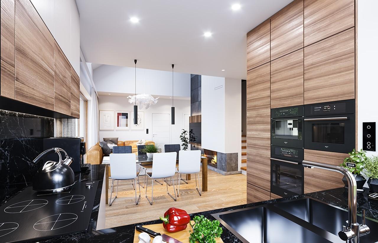 Projekt domu Dom na przytulnej 3 - wizualizacja wnętrza odbicie lustrzane