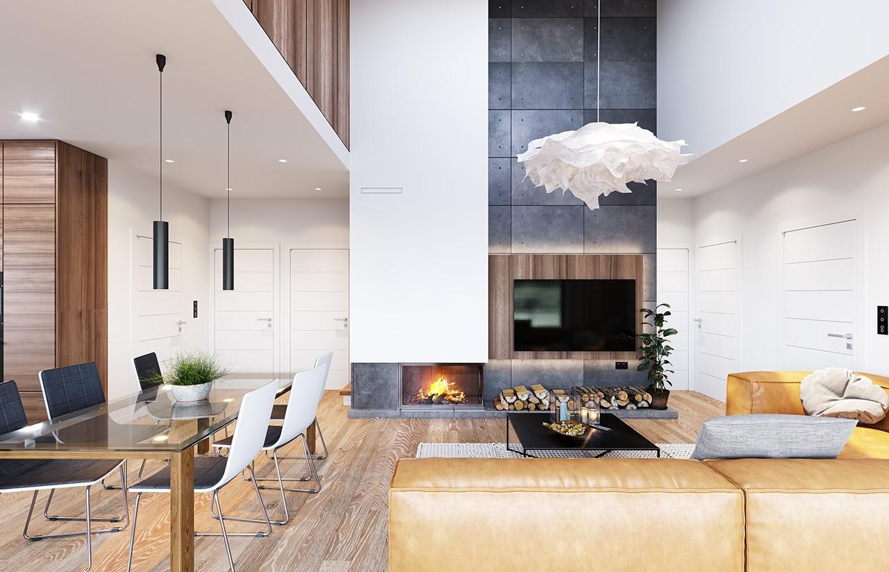 Projekt domu Dom na przytulnej 3 - wizualizacja wnętrza