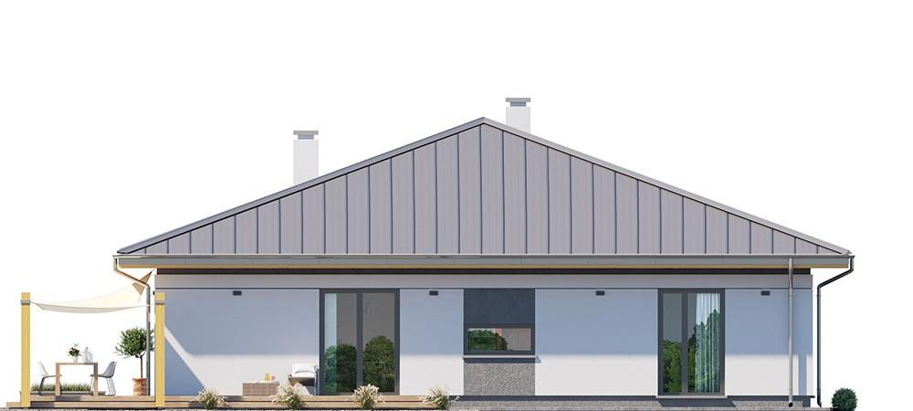 Projekt domu Dom na słonecznej - elewacja odbicie lustrzane